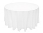 "White 120"" Round Table Linens"
